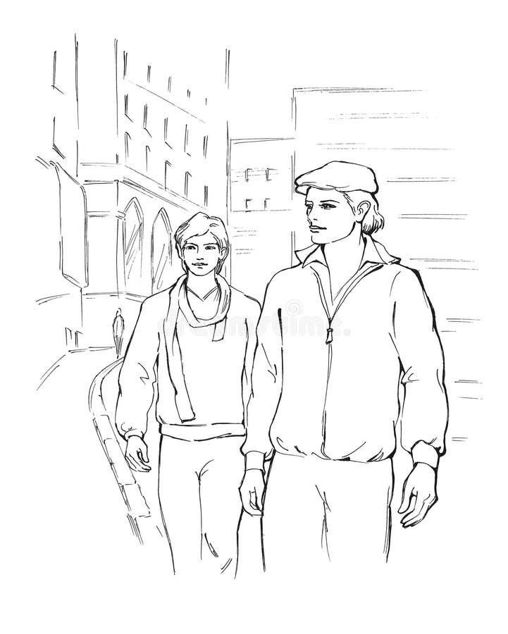 Due giovani illustrazione di stock