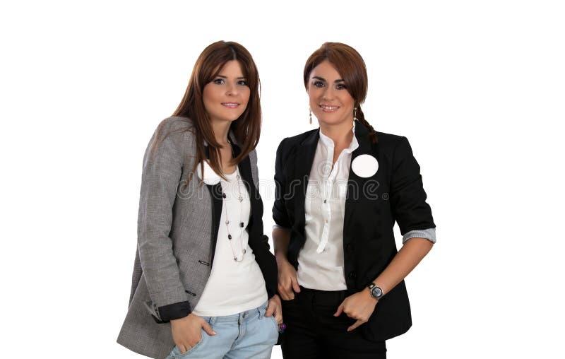 Due giovani donne di affari fotografia stock libera da diritti