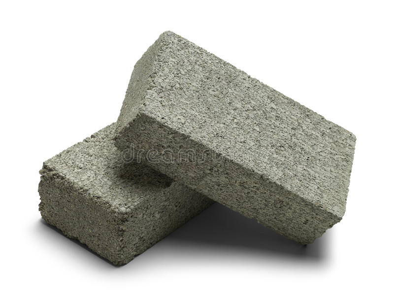 Due Grey Bricks immagini stock