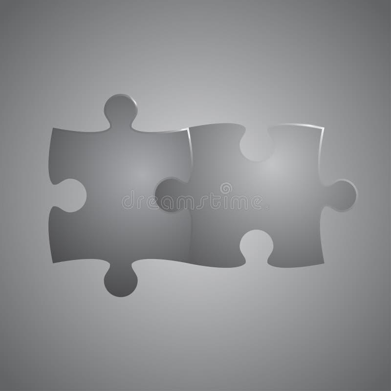 Due grey piece puzzle round infographic punto 2 - Collegamento stampabile un puzzle pix ...