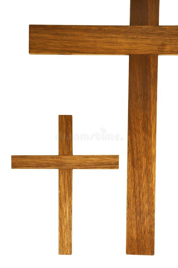 Due incroci di legno fotografia stock libera da diritti
