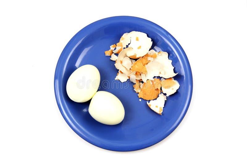 Uovo su un piatto. fotografie stock