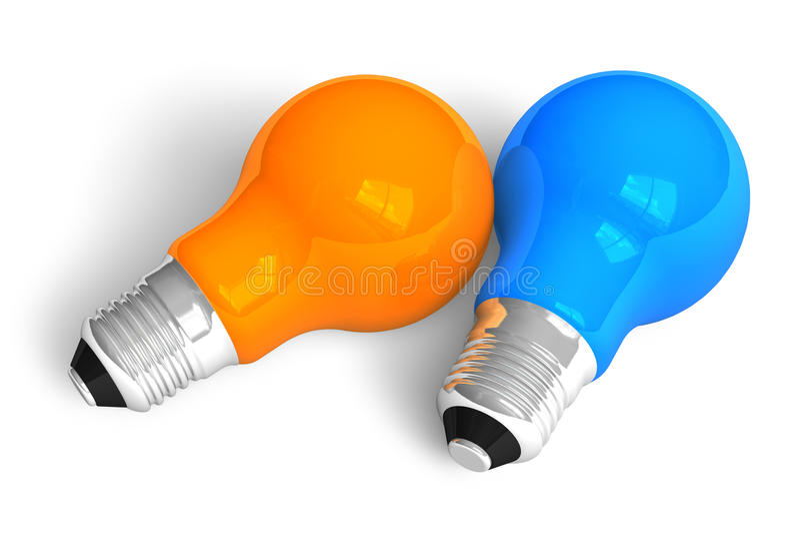 Due lampadine illustrazione vettoriale