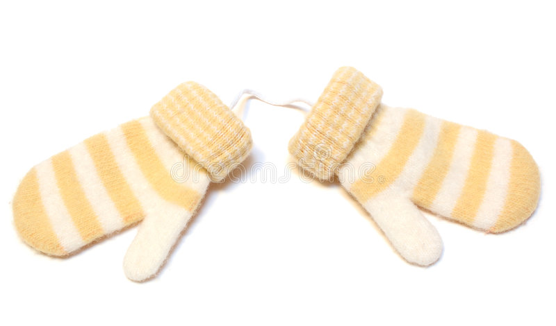 Due lane di inverno scaldano i guanti. immagine stock libera da diritti