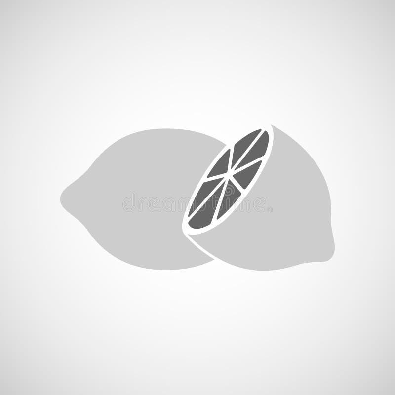 Due limoni in bianco e nero fotografia stock libera da diritti