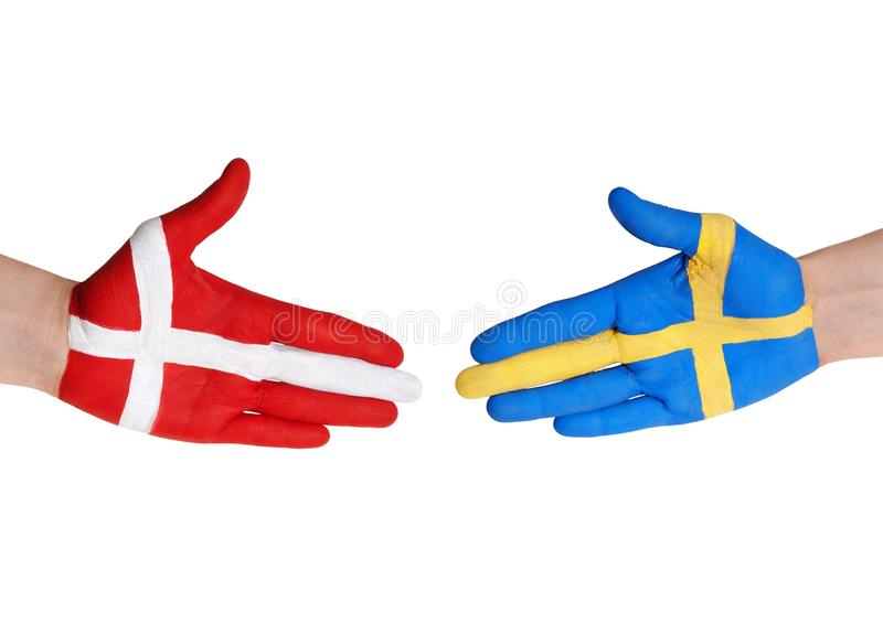 La Danimarca e la svezia fotografie stock libere da diritti