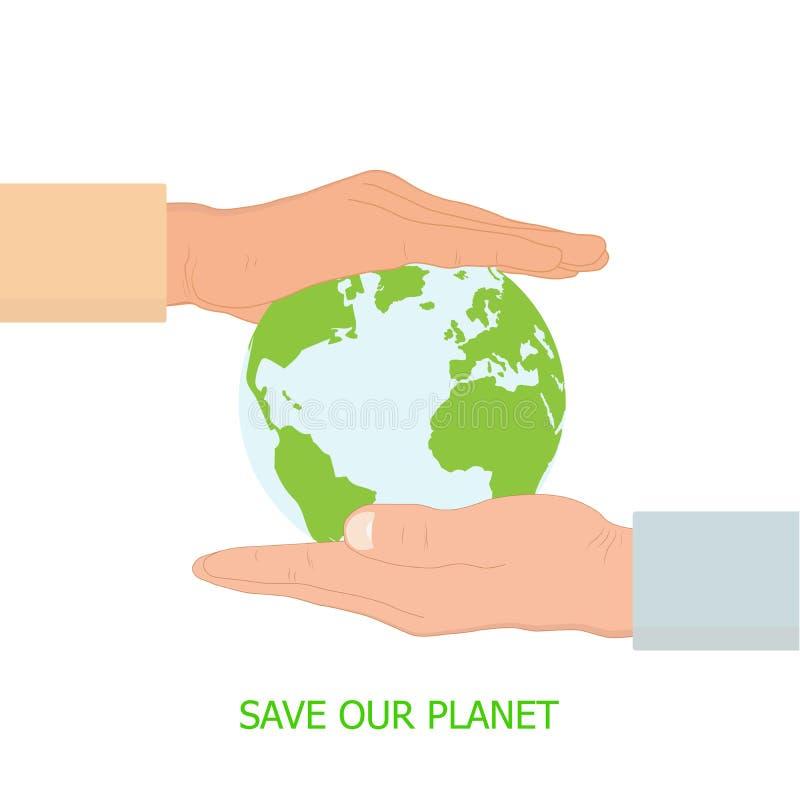 Due mani che tengono terra, concetto ambientale royalty illustrazione gratis