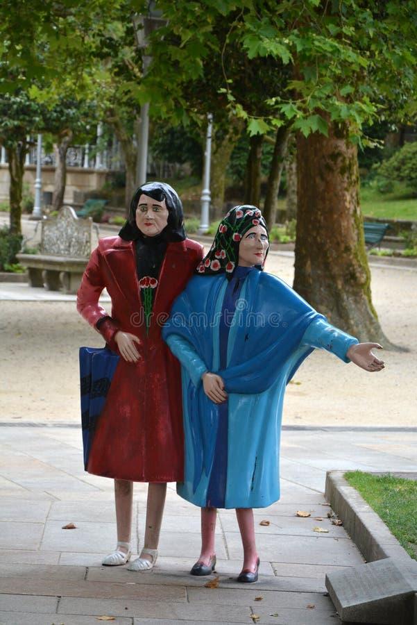 Due Marys, Santiago de Compostela fotografia stock libera da diritti
