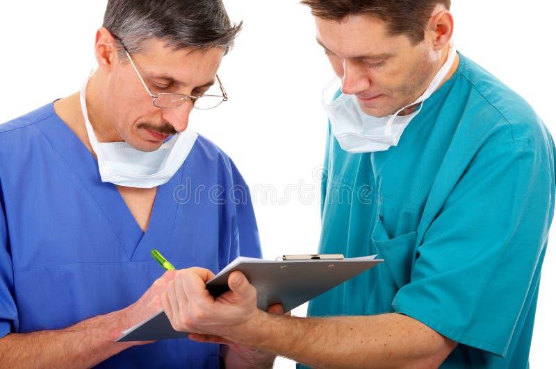 Due medici immagine stock libera da diritti