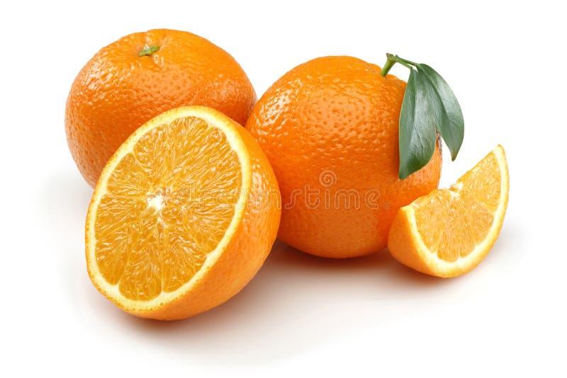 Due mezzo arancio ed arancio fotografia stock