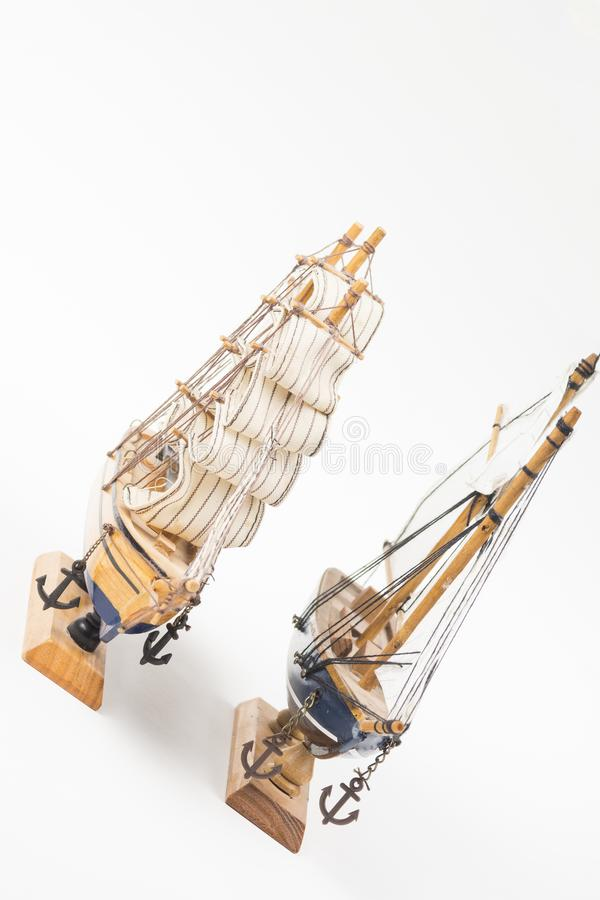 Due modelli della barca a vela fotografia stock libera da diritti