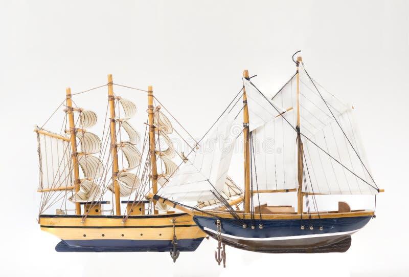 Due modelli della barca a vela immagine stock