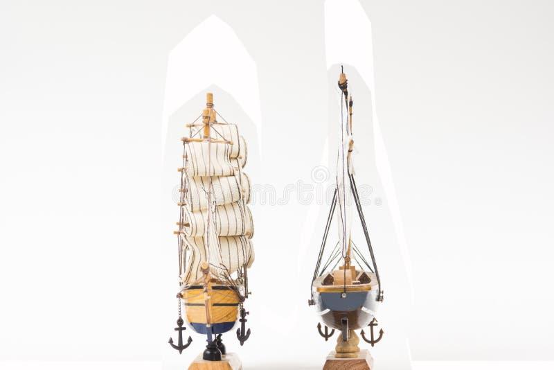 Due modelli della barca a vela fotografia stock