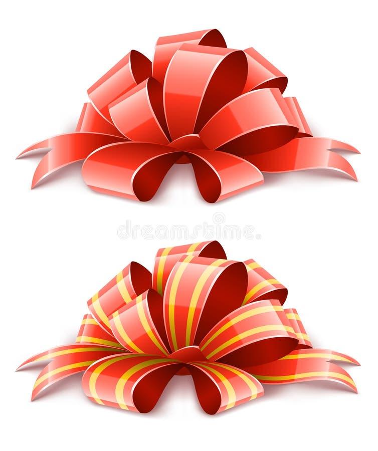 Due nastri rossi per la decorazione dei regali royalty illustrazione gratis