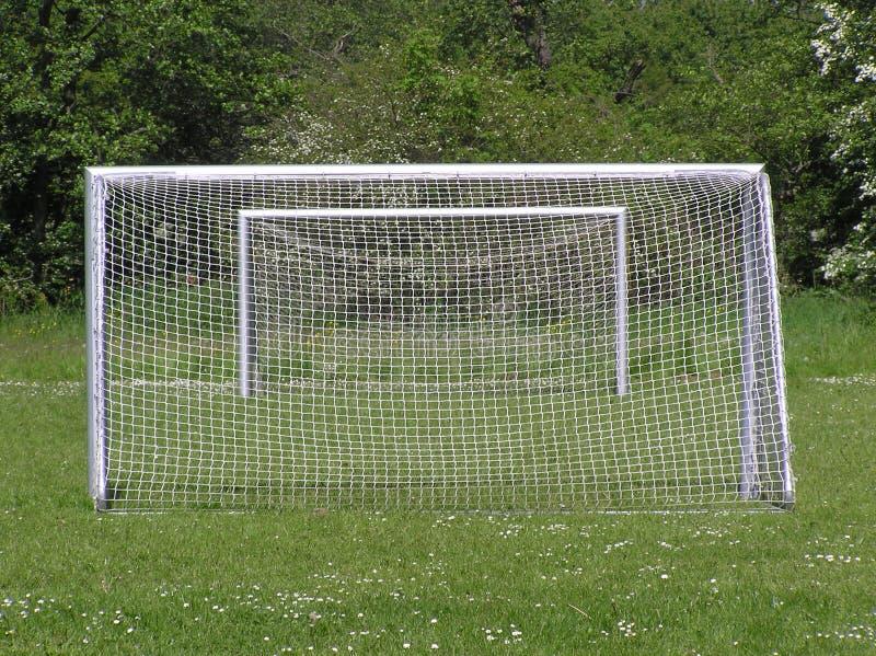 Due obiettivi di calcio fotografie stock libere da diritti