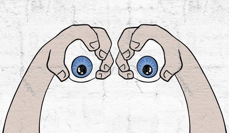 Due occhi illustrazione di stock