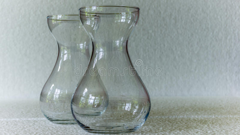 Due palloni del vetro trasparente immagine stock libera da diritti