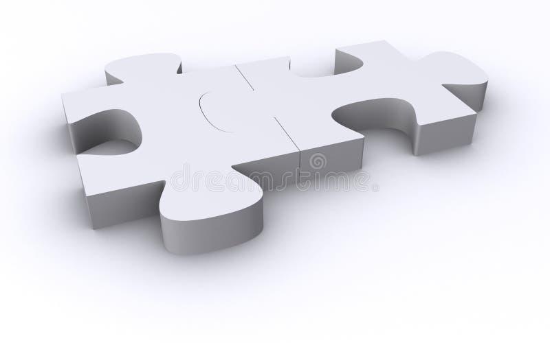 Download Due Parti Bianche Di Puzzle Illustrazione di Stock - Illustrazione di idea, misura: 3880408