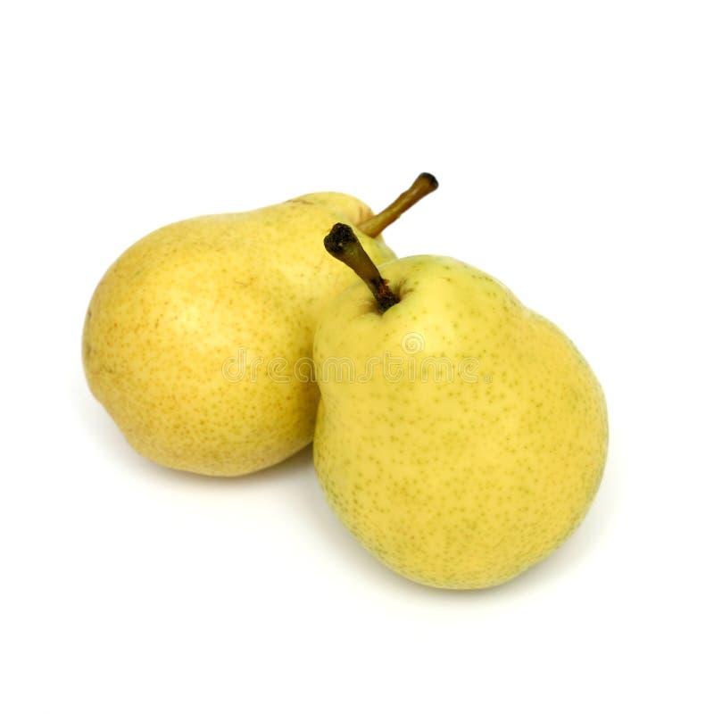 Due pere gialle fotografia stock