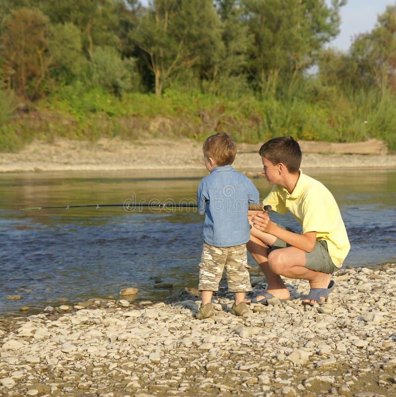 Due pescatori immagine stock