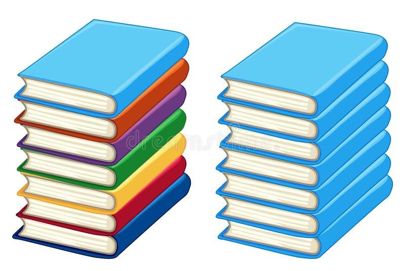 Due pile di libri spessi royalty illustrazione gratis
