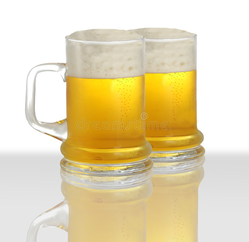 Due pinte di birra fotografia stock