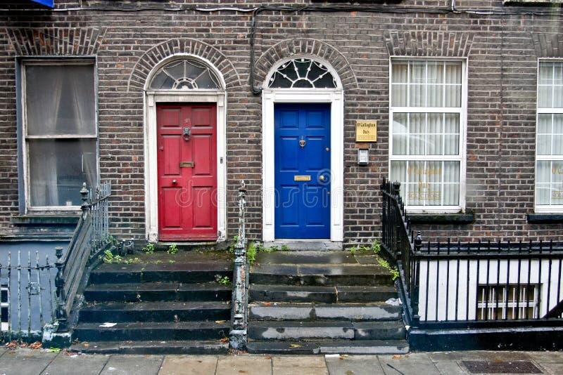 Due porte georgiane, Dublino, Irlanda immagine stock