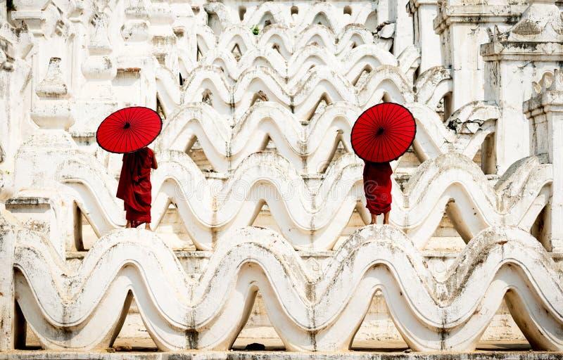 Due principiante Myanmar fotografia stock libera da diritti