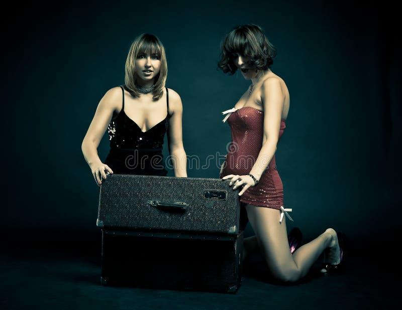 Due ragazze charming immagine stock libera da diritti