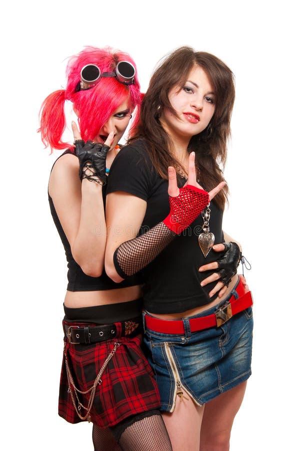 Due ragazze punk fotografia stock libera da diritti