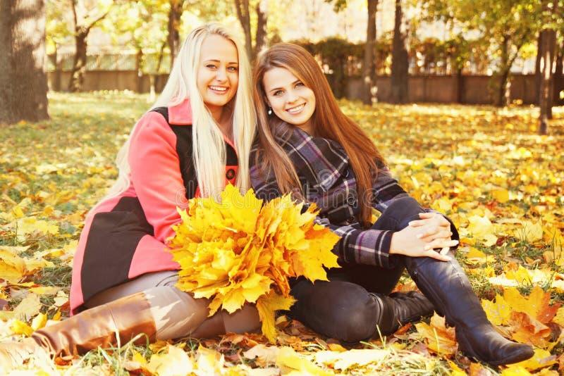 Due ragazze, tinte fotografia stock
