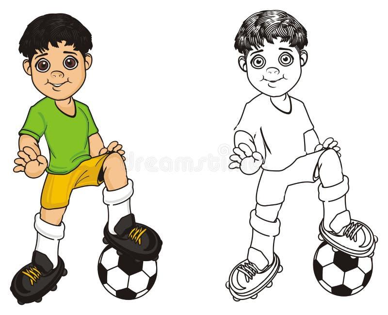 Due ragazzi differenti illustrazione vettoriale