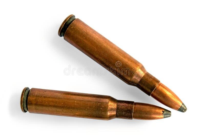Due richiami per il carbine fotografia stock