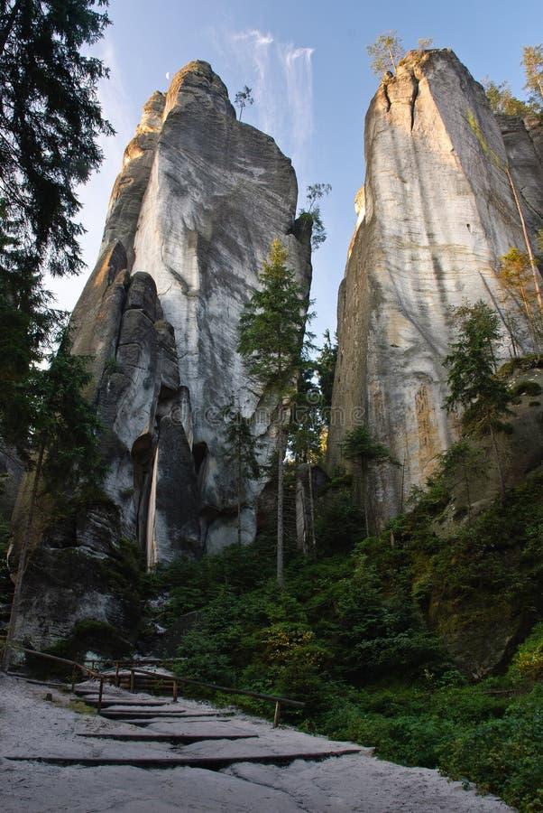 Due rocce fotografia stock