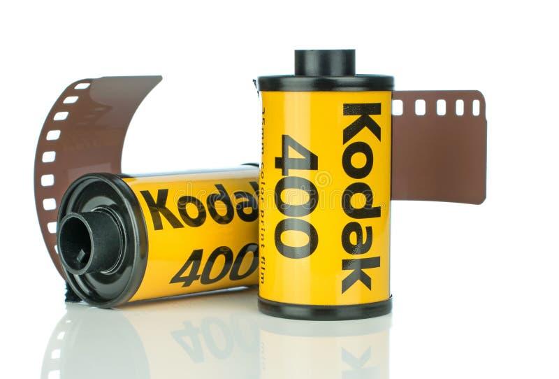 Due rotoli del film della macchina fotografica di Kodak Ultramax 400 35mm immagini stock libere da diritti