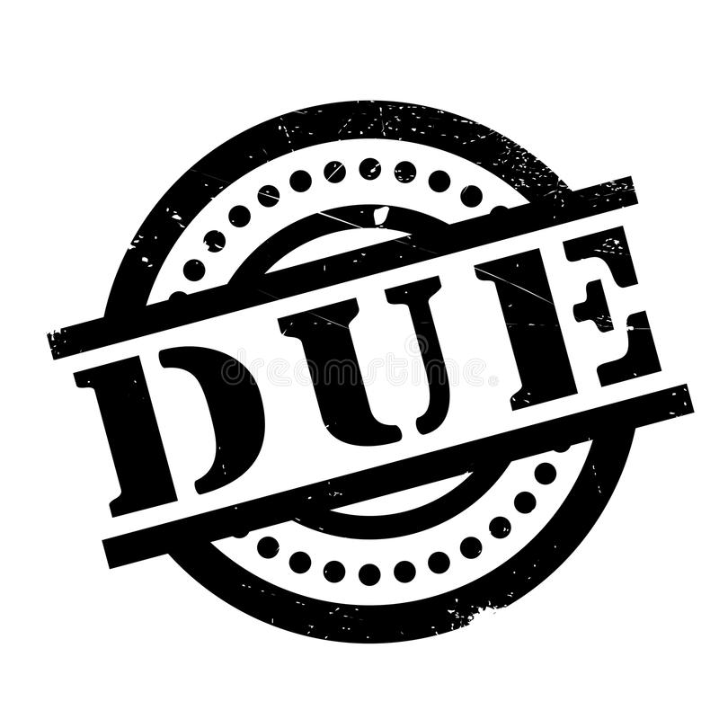 Due rubber stamp. Grunge design with dust scratches. Effects can be easily removed for a clean, crisp look. Color is easily changed royalty free illustration