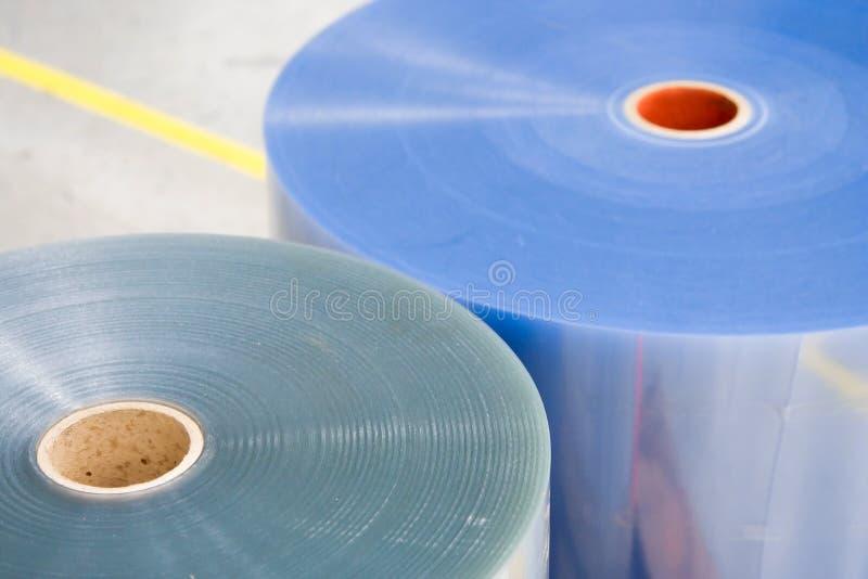Due rulli di plastica per machin impaccante immagine stock libera da diritti