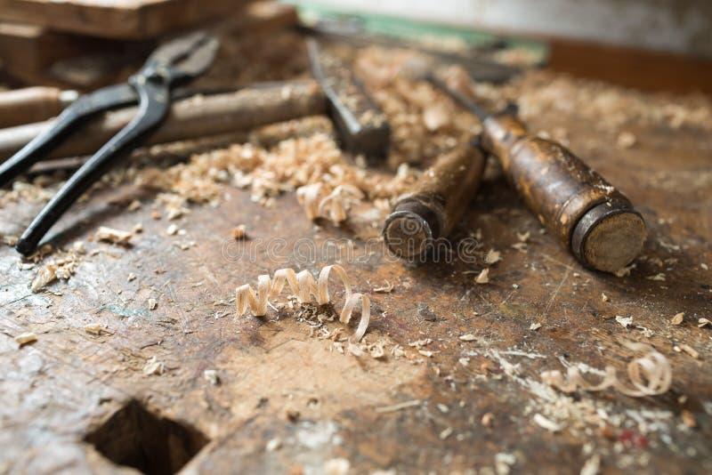 Due scalpelli antichi fotografia stock