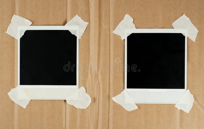 Due schede in bianco della foto immagini stock libere da diritti