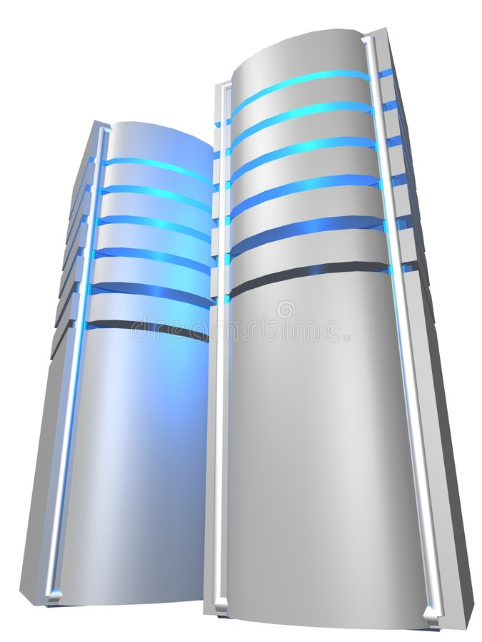 Due server royalty illustrazione gratis