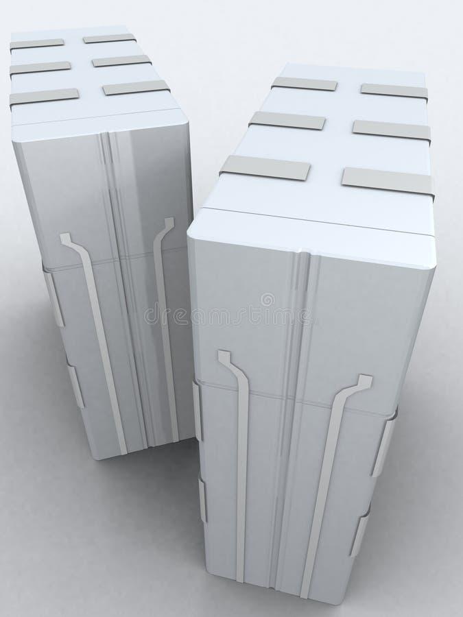 Due server in grigio chiaro immagini stock libere da diritti