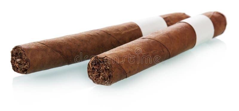 Due sigari cubani fotografia stock