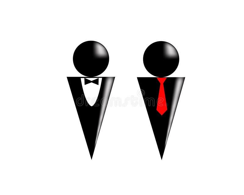 Due siluette royalty illustrazione gratis