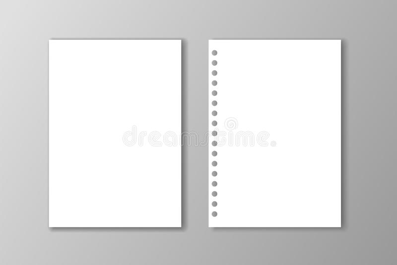 Due strati in bianco del Libro Bianco su fondo grigio royalty illustrazione gratis