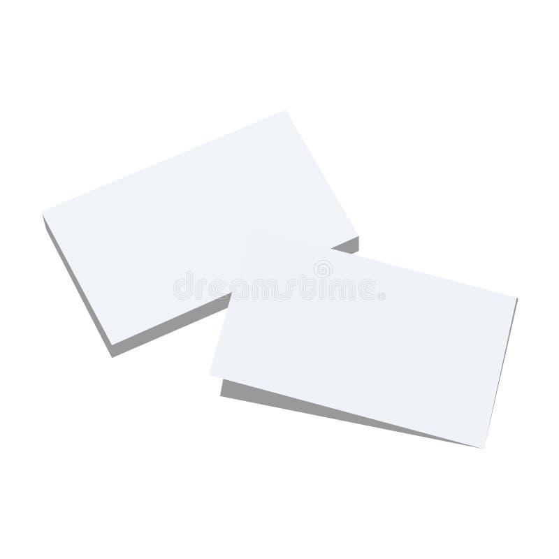 Due strati in bianco di Libro Bianco con differenti ombre Insieme di vettore royalty illustrazione gratis