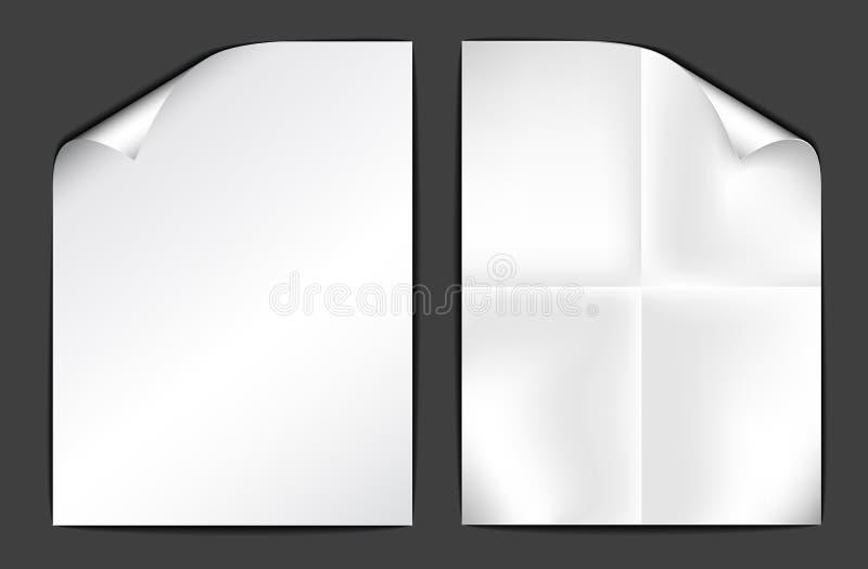 Due strati di Libro Bianco su priorità bassa scura royalty illustrazione gratis