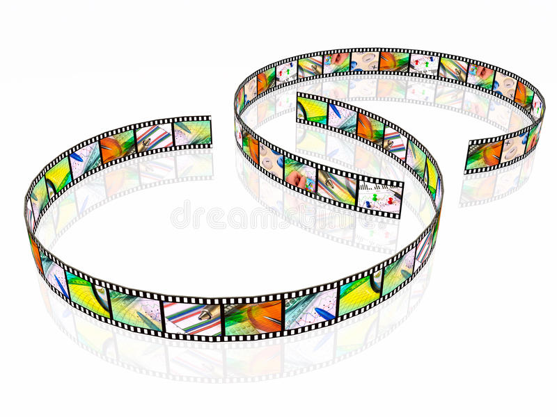 Due strisce della pellicola royalty illustrazione gratis