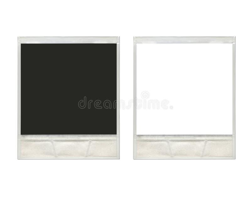 Due strutture istantanee d'annata della foto della polaroid immagine stock libera da diritti