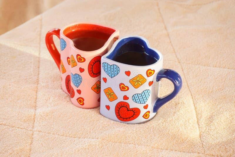 Due tazze di tè fotografia stock libera da diritti