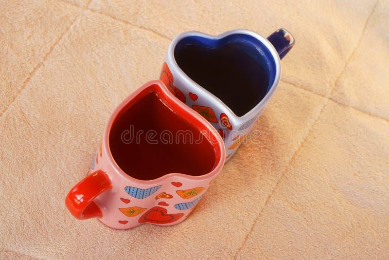 Due tazze di tè fotografie stock libere da diritti